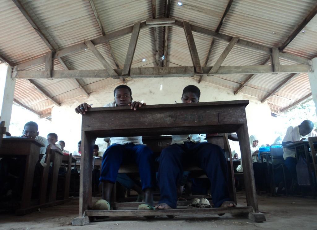 Unguja Ukuu Students Waiting For Class To Start