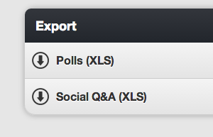 Screenshot of export options in Moderation Panel on GoSoapBox